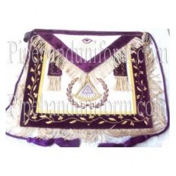 Embroidered Grand Master Purple Masonic Apron