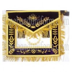 Embroidered Grand Lodge Worshipful Master Purple Masonic Apron