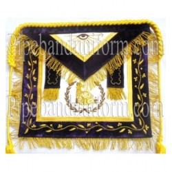 Embroidered Grand Master Junior/Senior Steward Purple Masonic Apron