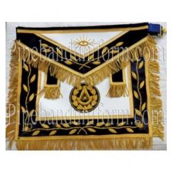 Embroidered Grand Pm Blue Masonic Apron