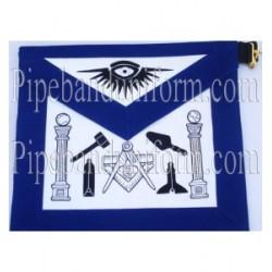 Embroidered Tool Blue Masonic Apron