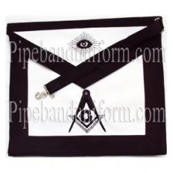 Embroidered Master Mason Funeral Black Masonic Apron
