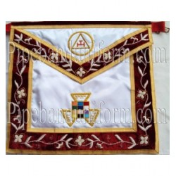 Embroidered Royal Arch PHP Red Masonic Apron