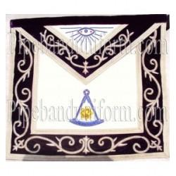 Embroidered Past Master Purple Masonic Apron
