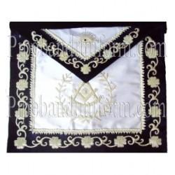 Embroidered Past Master Blue Velvet Masonic Apron