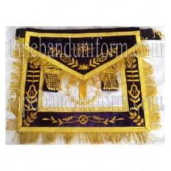 Embroidered Grand Lodge Junior Warden Purple Masonic Apron