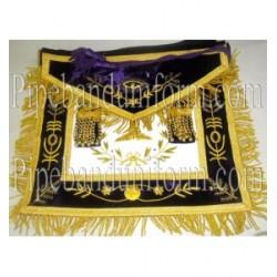 Embroidered Grand Lodge Senior Warden Purple Masonic Apron
