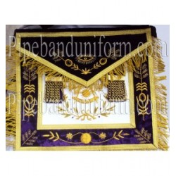 Embroidered Grand Lodge Past Master Purple Masonic Apron