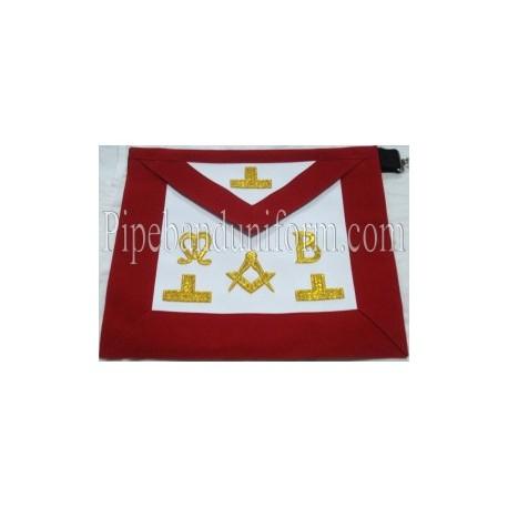 Embroidered Master Mason Red Masonic Apron
