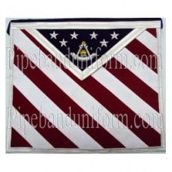 Embroidered U.S Master Mason Masonic Apron