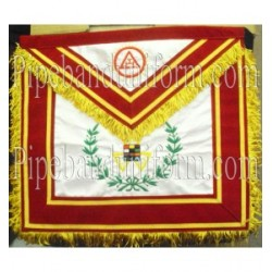 Embroidered Royal Arch, Past High Priest (PHP) Red Masonic Apron