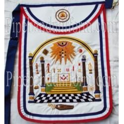 Embroidered G.W Master Mason Red White Blue Masonic Apron