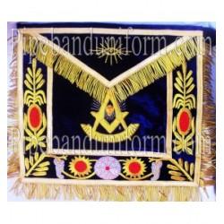 Embroidered Grand Past Master Blue Masonic Apron