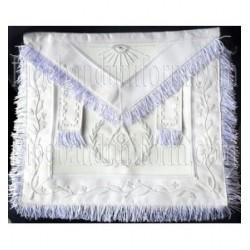 Embroidered Grand Lodge Master Mason White Masonic Apron