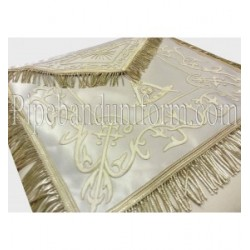 Embroidered Past Master White Masonic Apron