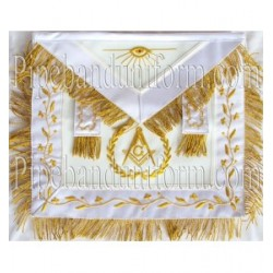 Embroidered Lodge Master Mason White Masonic Apron