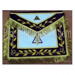 Embroidered RSM Past Thrice Illustrious Master Purple Masonic Apron