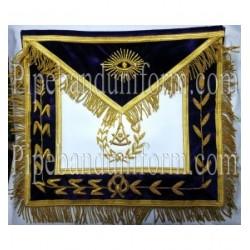 Embroidered Grand Past Master Purple Masonic Apron