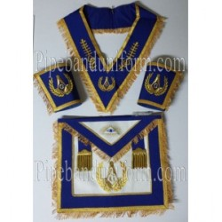 Masonic Regalia - Master Mason Apron Collar And Cuffs Set