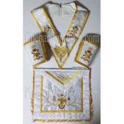 Masonic Regalia - Apron Collar And Gauntlet Set