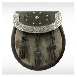 Sealskin & Leather Celtic Pipe Band Sporran