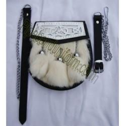 Pipe Band Semi Dress Rabbit Hair Sporran