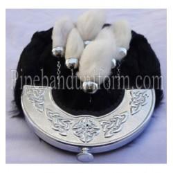 Pipe Band Rabbit Hair Sporran