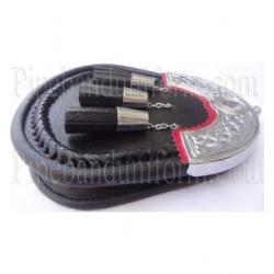 Pipe Band Semi Dress Black Leather Sporran