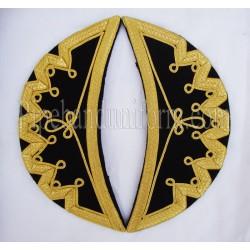 Black Doublet Shoulder Wings - Shells - Epaulettes