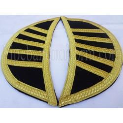Black Doublet Wings - Shells - Shoulder Epaulettes