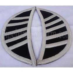 Black Doublet Epaulettes - Shells - Shoulder Wings