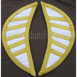 White Doublet Shells - Wings - Epaulettes - Shoulders