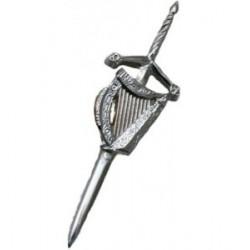 Sword Pipe Band Kilt Pin - Celtic Design