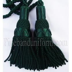 Dark Green Pipe Band Highland Bagpipe Drone Silk Cord