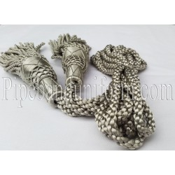 Silver Pipe Band Highland Bagpipe Drone Silk Cord