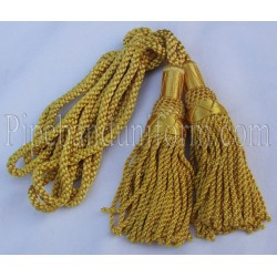 Yellow Pipe Band Highland Bagpipe Drone Silk Cord