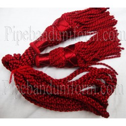 Maroon Pipe Band Highland Bagpipe Drone Silk Cord